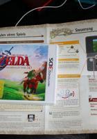 The Legend of Zelda: Ocarina of Time 3DS – Faltblatt statt normale Spielanleitung