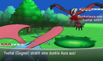 Yveltal Dark Aura screenshot DE